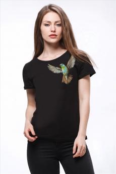 Новинка: черная футболка с колибри Brosko