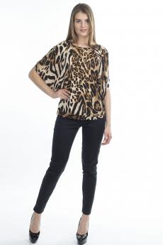 Леопардовая блузка Bast со скидкой