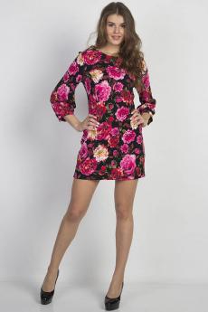Платье с крупными цветами Bast