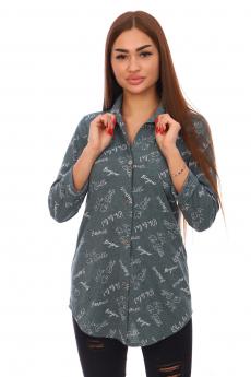 Зеленая туника-рубашка Вилана